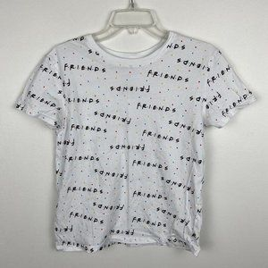 Friends White Logo Cropped Tee S